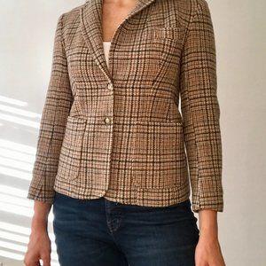 Vintage Plaid Wool Jacket